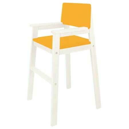 Kinderstuhl hoch Weiss orange